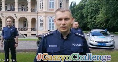 Policjanci z KP w Tyczynie przystąpili do #GASZYNCHALLENGE